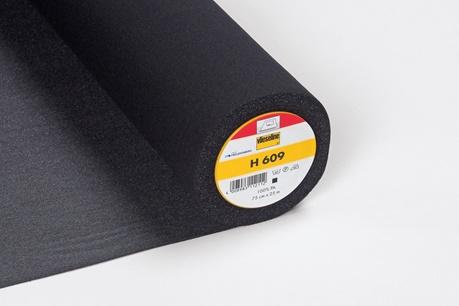 h609 vlieseline bügeleinlage schwarz