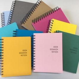 Chartewärchstatt Notizbuch rosa gelb grau