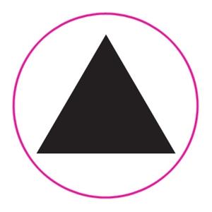 Kado Design Aufkleber Pyramide Black 43mm 62VB147K9 13206