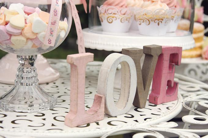 Eine Candybar fr die Hochzeit im VintageStil
