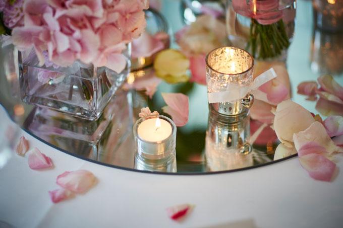 Tischdekoration fr die Hochzeit selber gestalten
