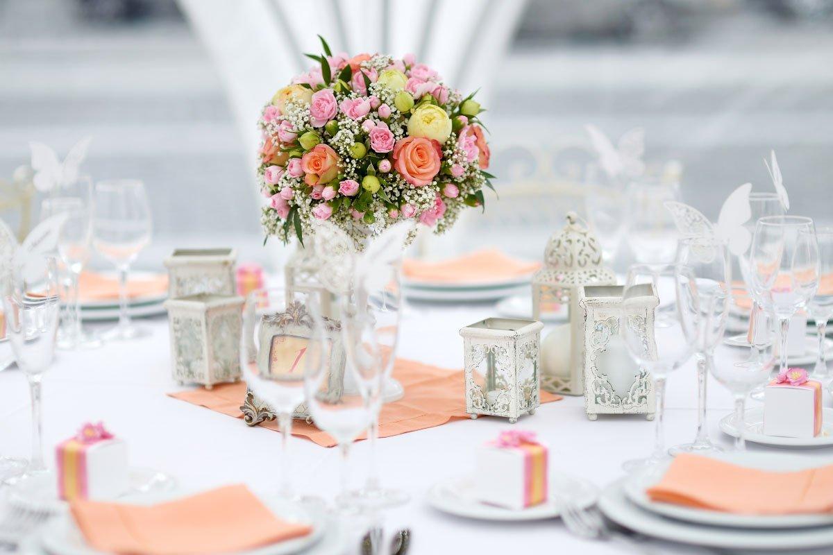 20 wunderschne Ideen fr die TischDekoration bei der Hochzeit