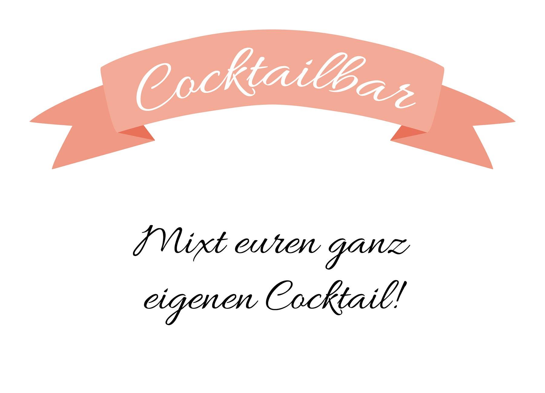 Cocktailbar bei der Hochzeit Kfer Frozen Cocktails macht