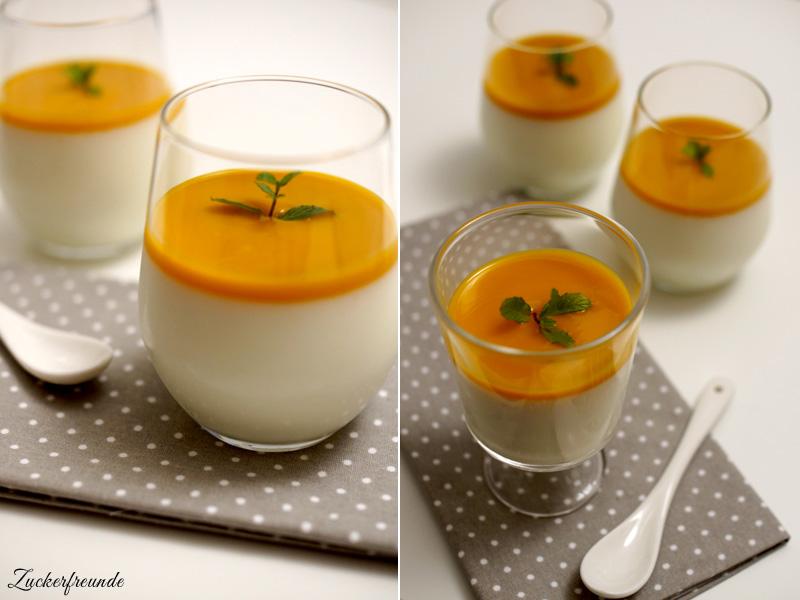 Leichtes Dessert im Glas