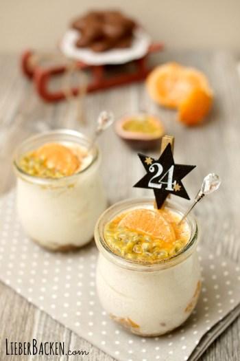Weihnachtliches Dessert im Glas: schnelles und einfaches Rezept