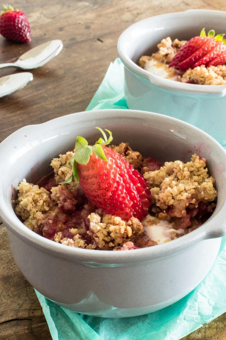 Erdbeer Rhabarber Crumble-14