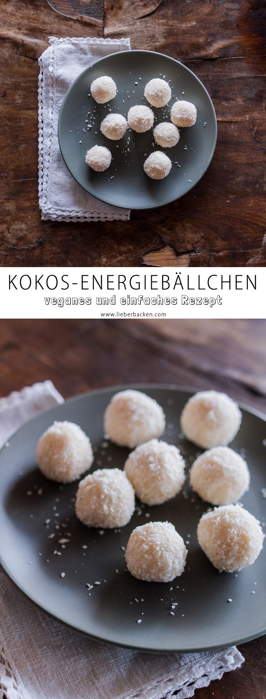 Vegane Kokos-Energiebällchen
