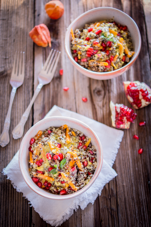 Quinoa mit Zitronen-Senf Dressing