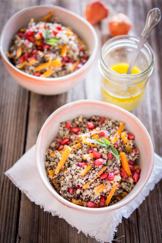 Herbstliche Quinoa Bowl