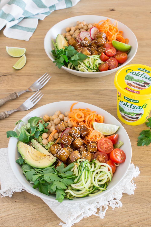 Vitaminkick: Tofu Teriyaki & Veggie Bowl - leckeres Rezept