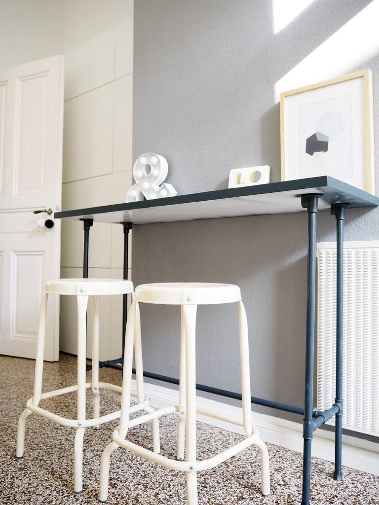 DIY Bartisch Küchentisch Installationsrohre