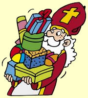 Hij komt de lieve goede Sint