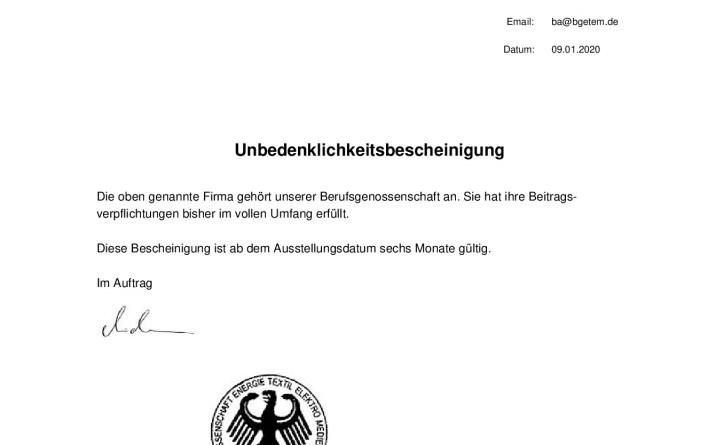thumbnail of Unbedenklichkeitscheinigung-BG-ETEM-Liefner-Haustechnik-GmbH
