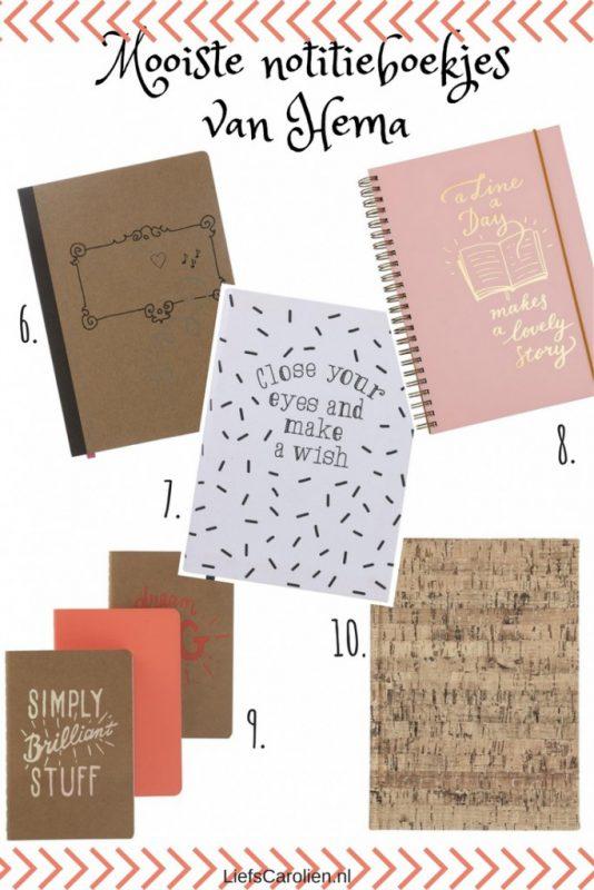 Mooiste notitieboekjes van Hema
