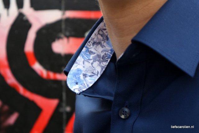 Olymp overhemd met een bloemetje