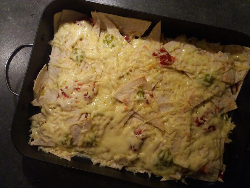 homemade nacho's met wraps
