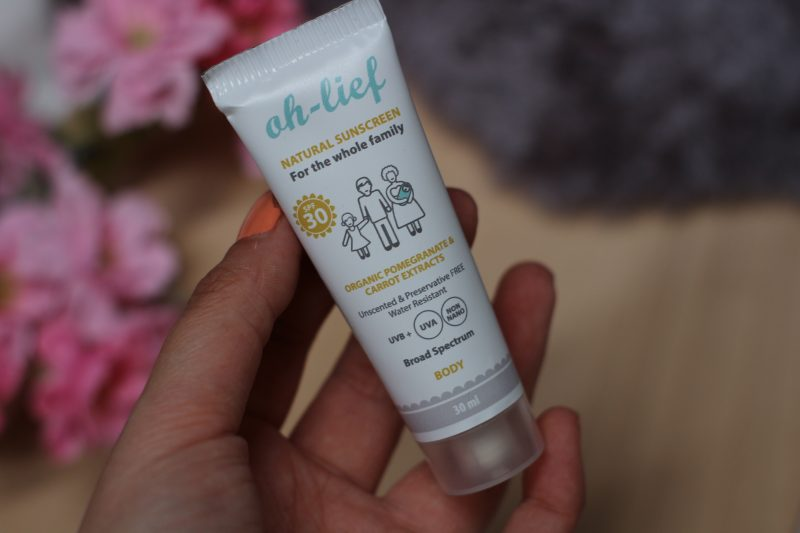 Oh Lief natural sunscreen SPF 30