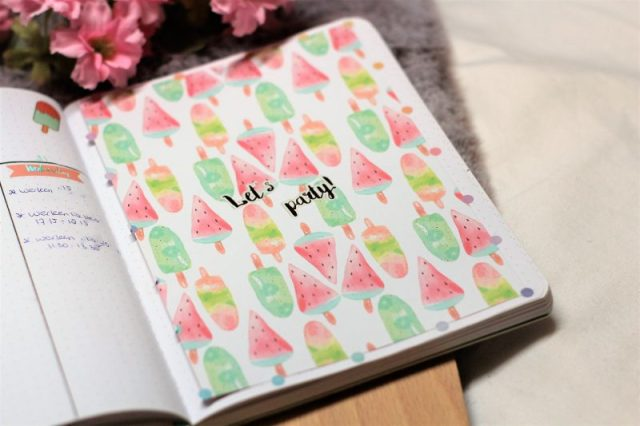 ijsjes thema juli 2019, bullet journal