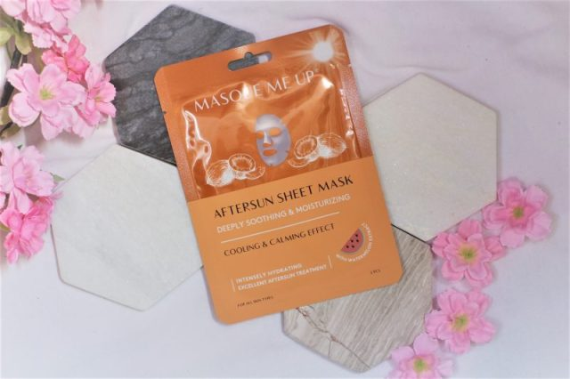 masque me up aftersun mask sheet