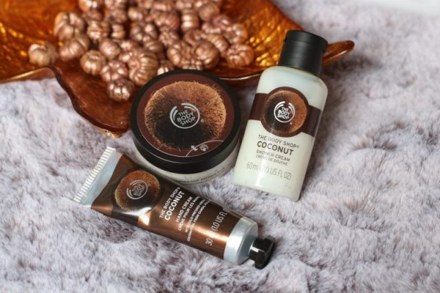 The body shop | Coconut – hand cream, shower cream, exfoliating cream body scrub