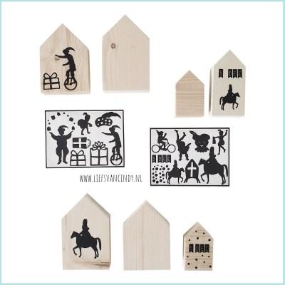 Houten huisjes Sinterklaas