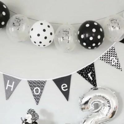 zwart witte ballonnen