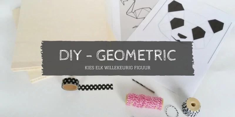 DIY geometrische figuren op hout