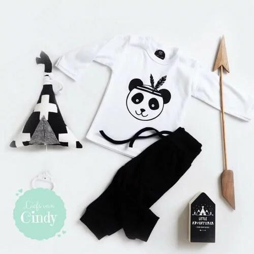 Shirt met panda