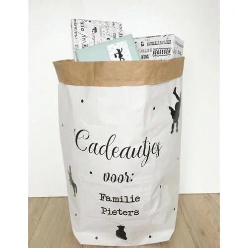 Paperbag Sinterklaaszak zelfmaken DIY