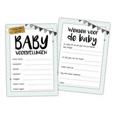 invulkaartjes voor babyshower