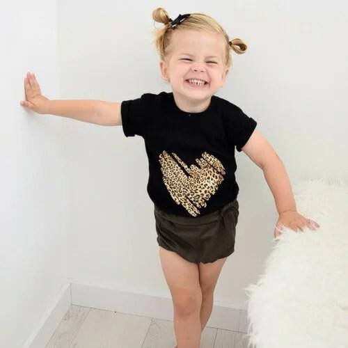 Shirt met panterprint tijgerprint baby's en kinderen