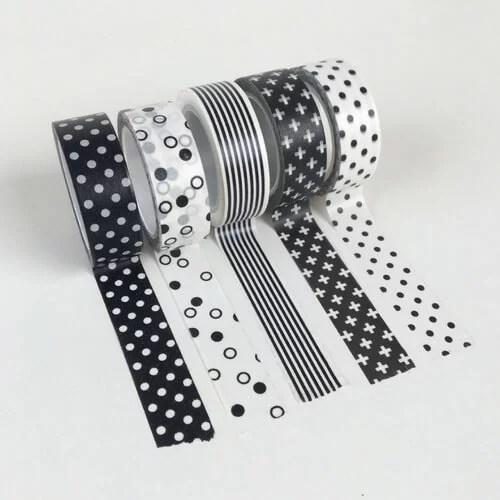 Washi tape zwart wit