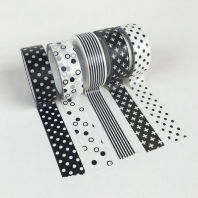 Washi tape zwart wit