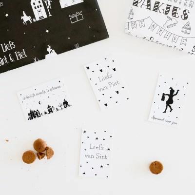 Sint kaartjes en papier