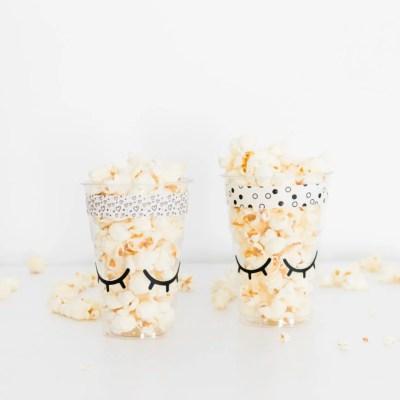 Traktatie sleepy eyes zelfmaken popcorn