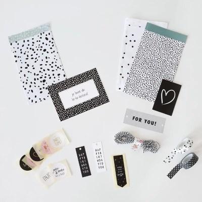 inpakzakjes, labels, stickers, washi pakket