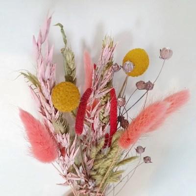 Droogbloemen vrolijk roze doe het zelf