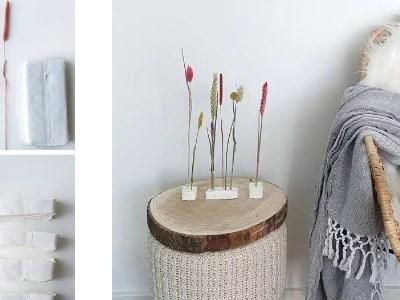 Droogbloemen in klei DIY