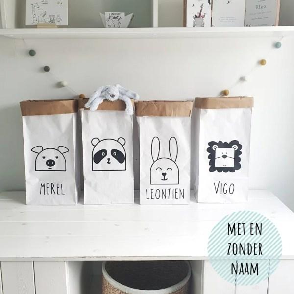 Paperbag kidnerkamer met naam