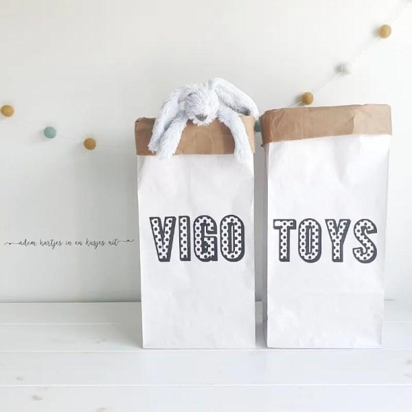 Paperbag met naam kinderkamer