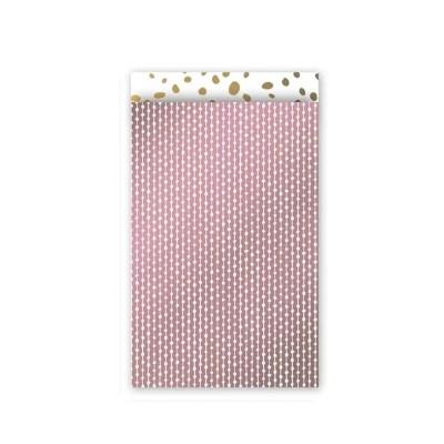 cadeauzakjes metallic roze goud wit