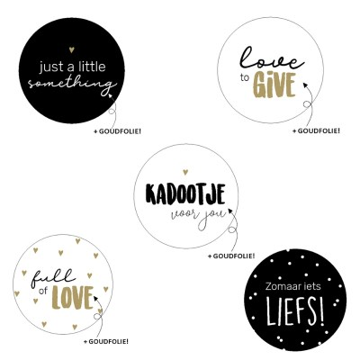 Stickers zwart wit goud