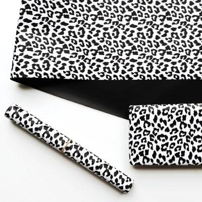 Cadeaupapier zwart wit dierenprint