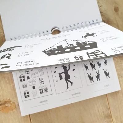 Aftelkalender en doe boek sinterklaas