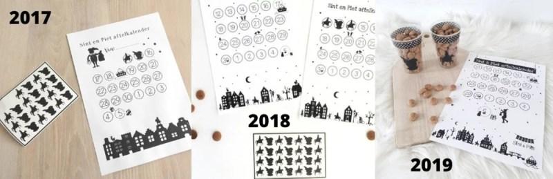 Sinterklaas aftelkalenders