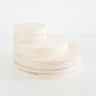 Houten cirkels blanco om zelf te versieren