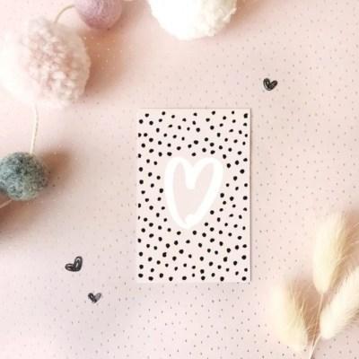 cadeaukaartje hart roze