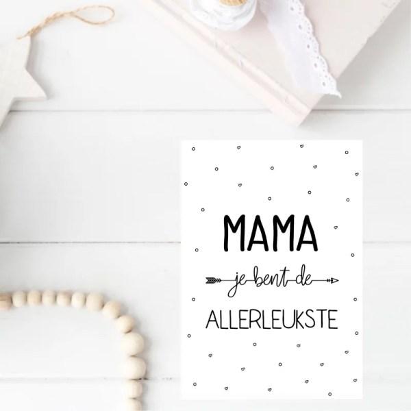 kaart allerleukste mama met pijl