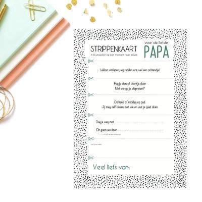 strippenkaart voor papa