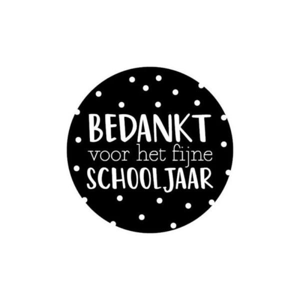 sticker bedankt voor het schooljaar